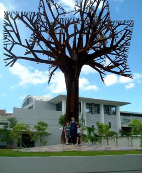 """Ana Nicholson, """"Árbol de Chinas"""", proyecto de Arte Público para Puerto Rico."""