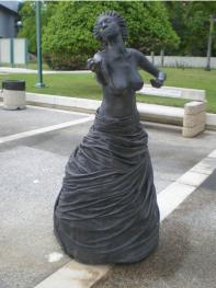 "Annex Burgos, ""Musas"", detalle, ""Musa del baile""."
